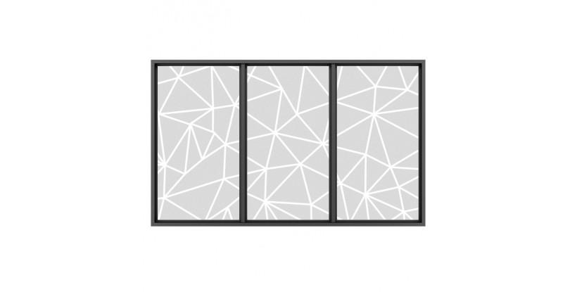 Vetrofania Stile Origami