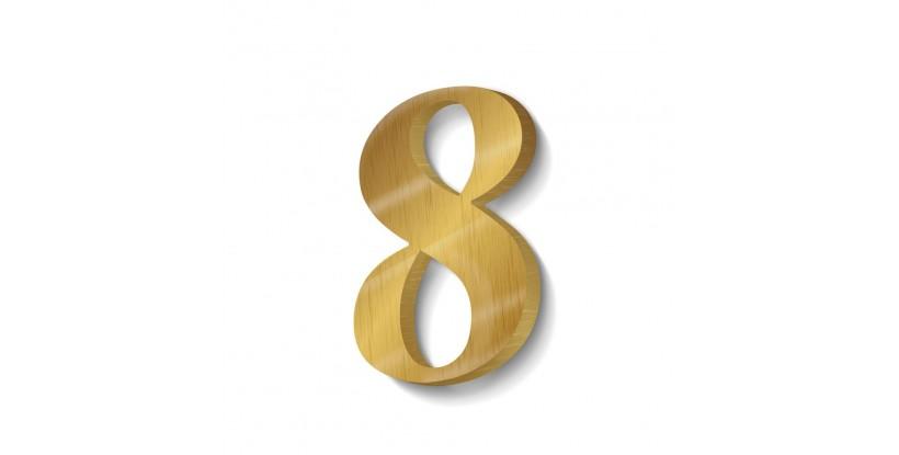 Numeri in Ottone per Porte di Casa