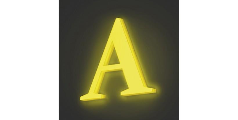 Lettere luminose in Vetro Sintetico Verde