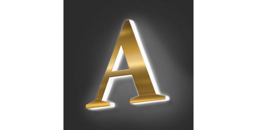 Lettere Scatolate in Ottone con Plexiglass Luminoso Luce